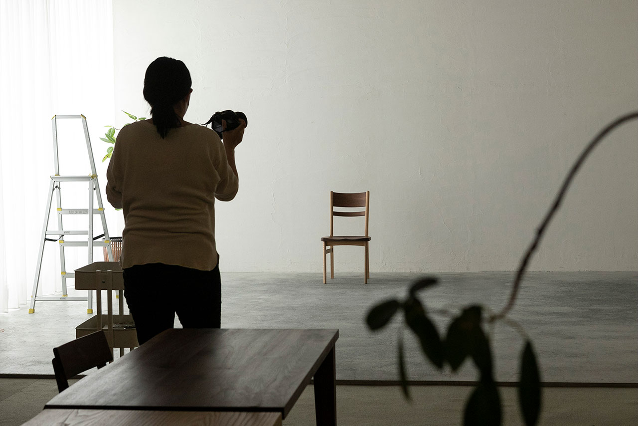 秋山木工 撮影スペース
